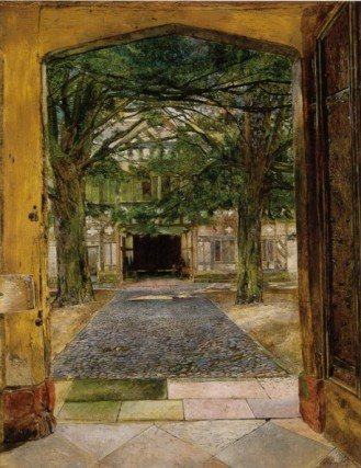 Campbell The Courtyard at Speke Hall 1854